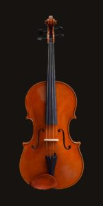 Front view of Andrea Guarneri model viola made by William Castle