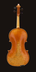 back view of P Guarneri model viola