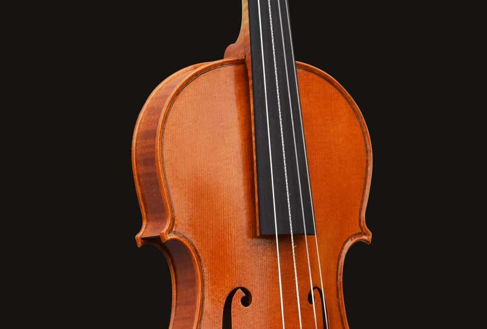 Baroque violin made by William Castle